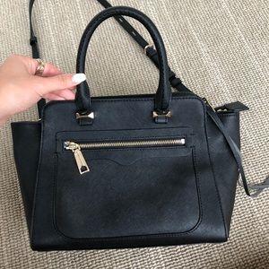 Rebecca Minkoff black leather cross body bag